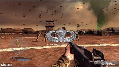 透露《荣誉勋章:空降兵》的主要特色有:1,所有任务都从飞机上跳伞开