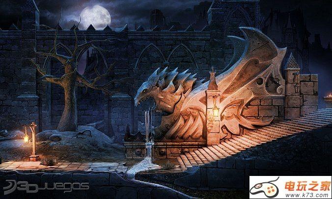 场景原画 欧式城堡