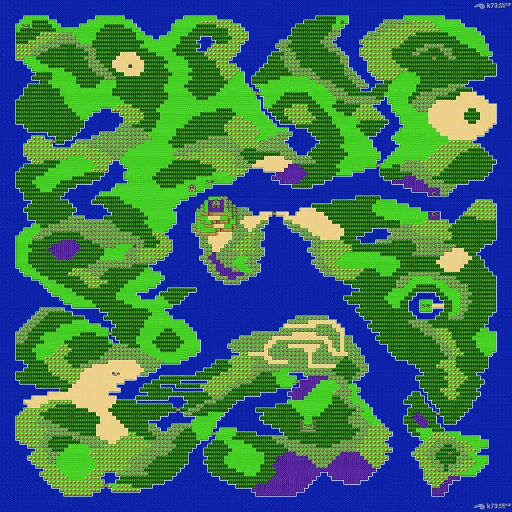 勇者斗恶龙1,2全版本世界地图fc