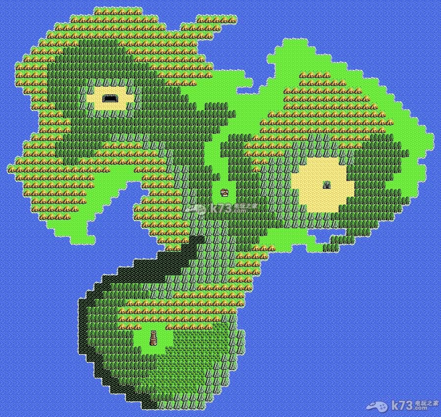 勇者斗恶龙4全世界地图真实1:1比例