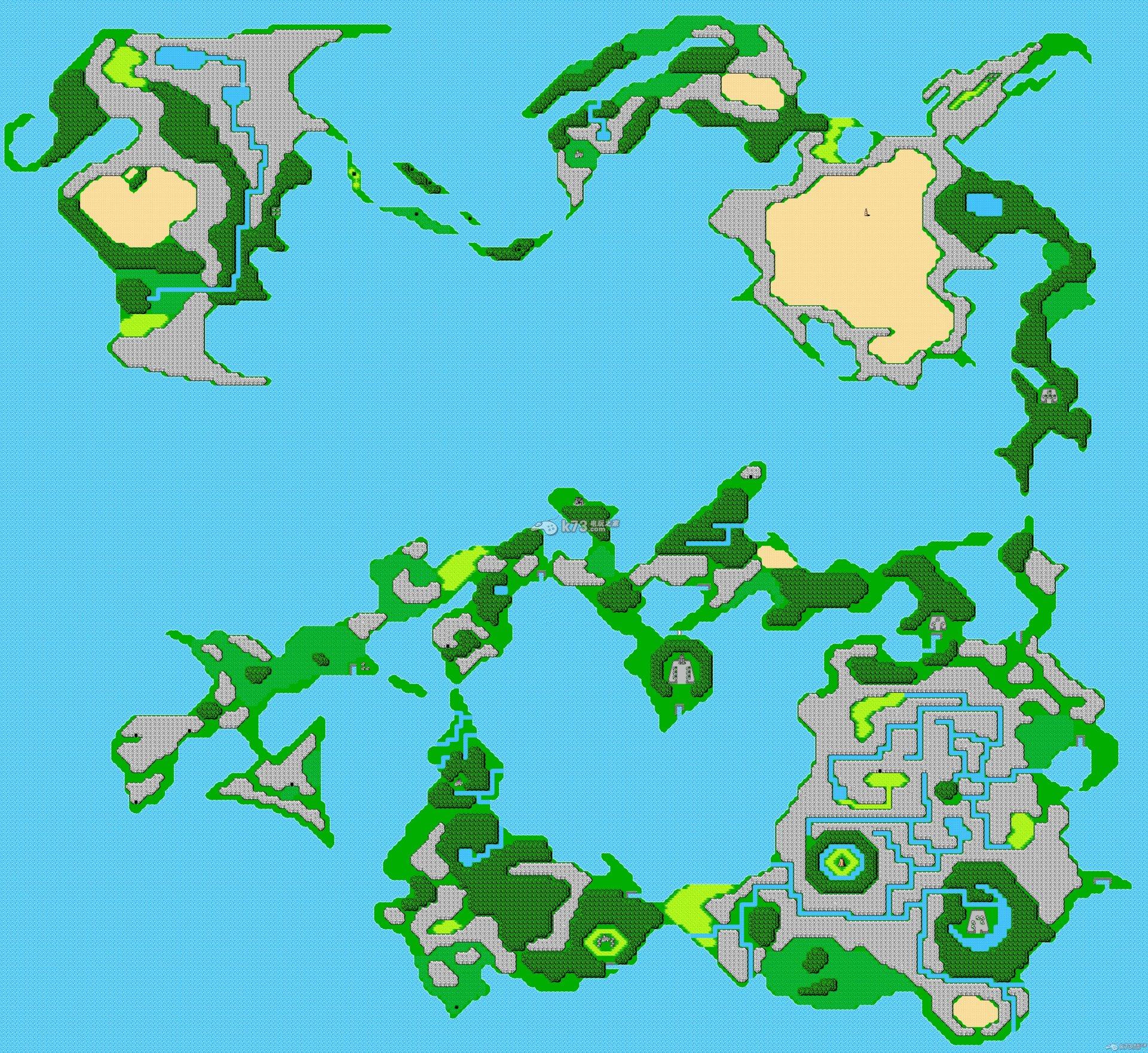 fc最终幻想1世界地图1:1