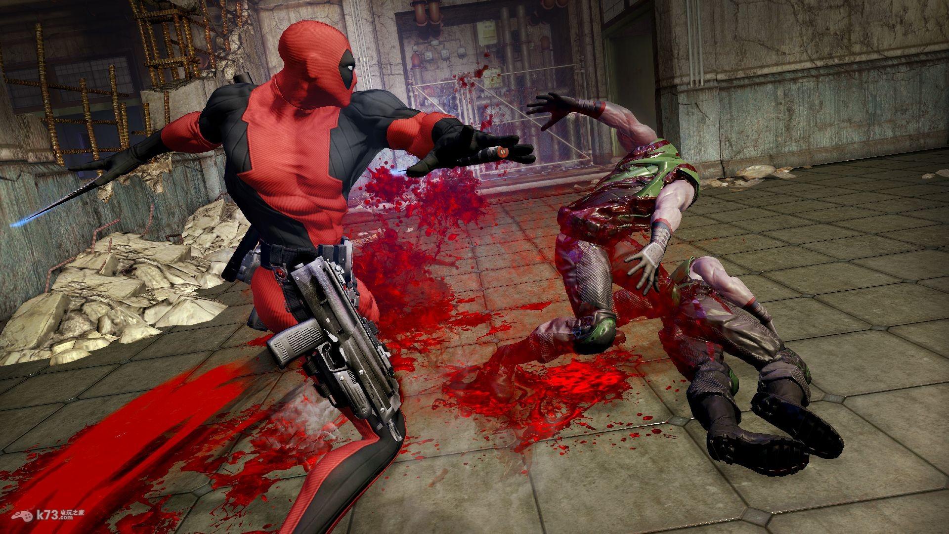 死侍Deadpool新角色及场景原画截图:血腥暴力有木有! _k73电玩之家