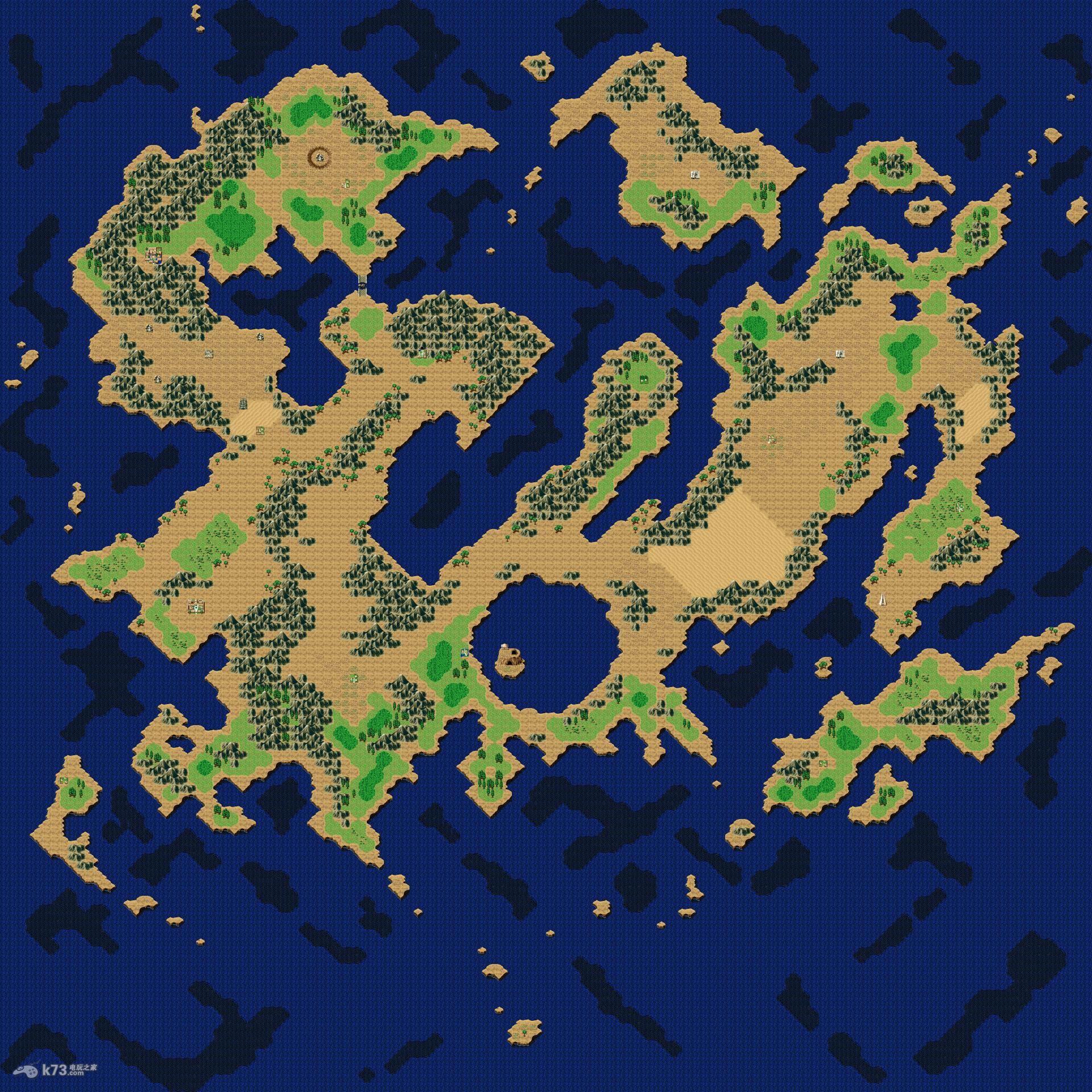 梦幻之星4全世界地图