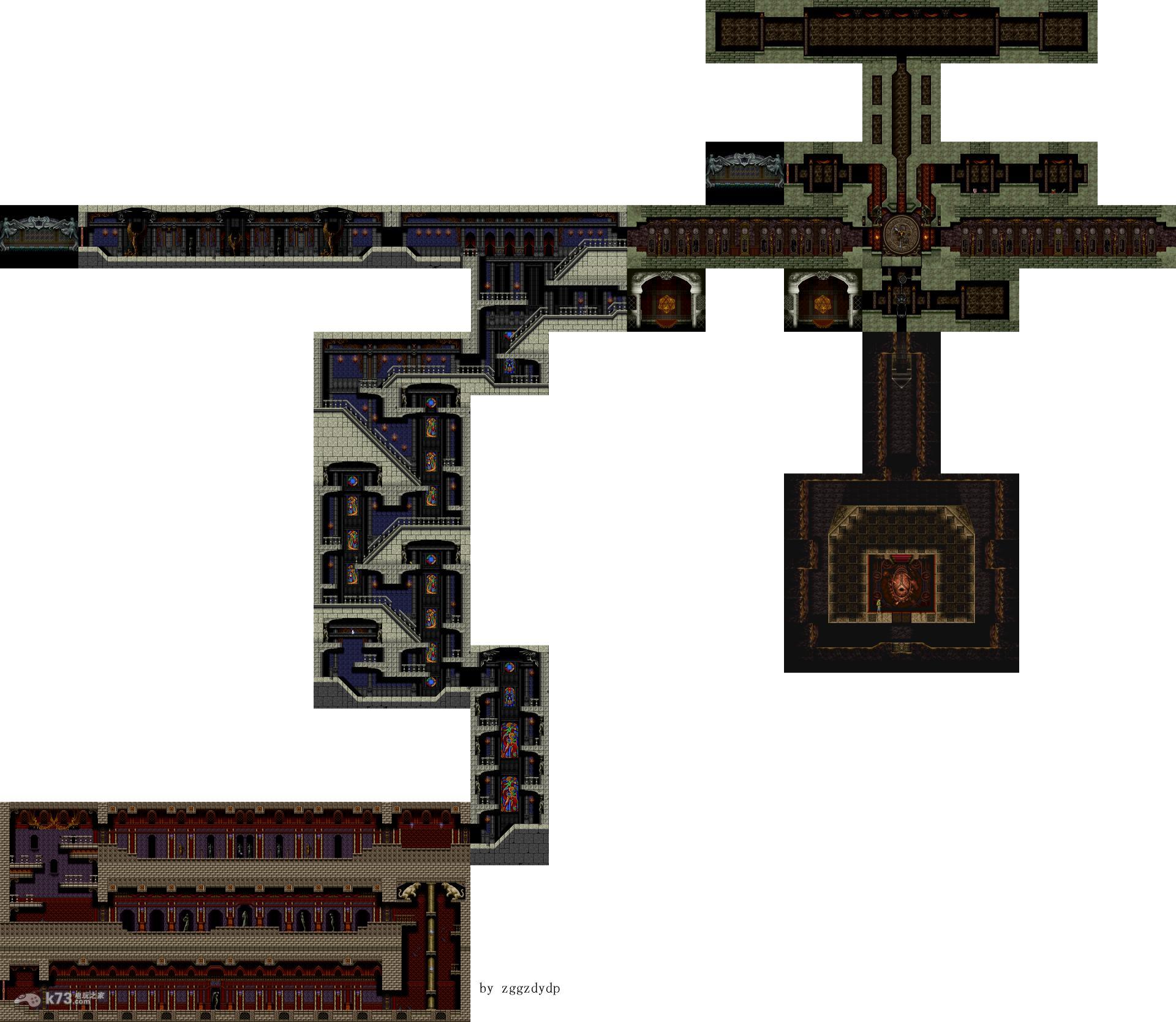 恶魔城月下夜想曲全迷宫地图