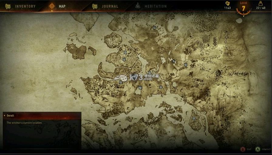 巫师3地图全貌一览