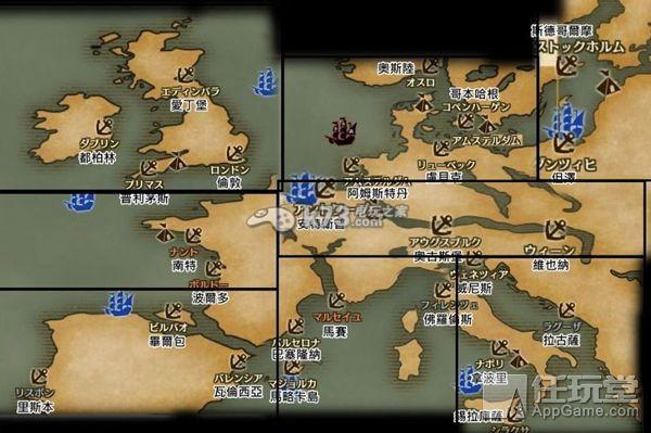 大航海时代5主要角色及军政商列传地图一览